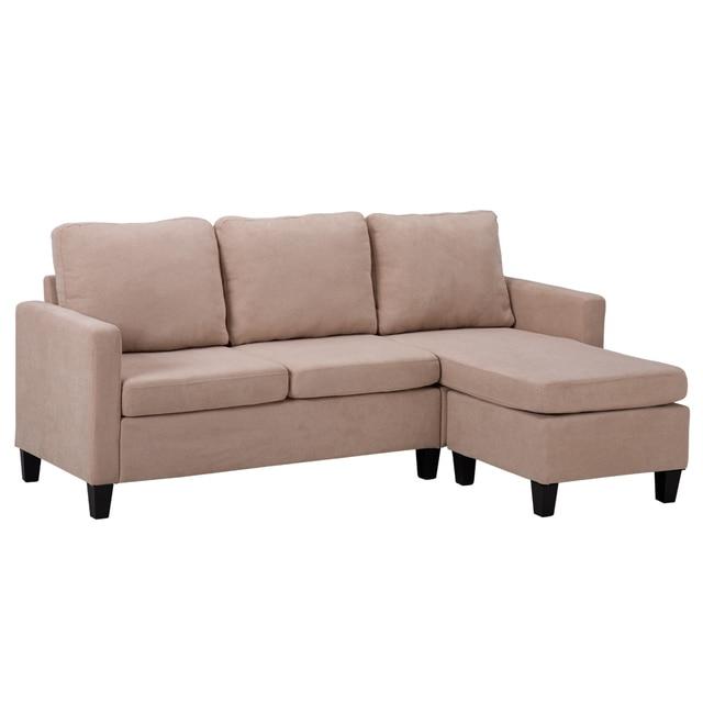 Double Chaise Longue Combination Sofa Beige Model Room Sofa Set  (194 x 126 x 89)cm for Livingroom 6