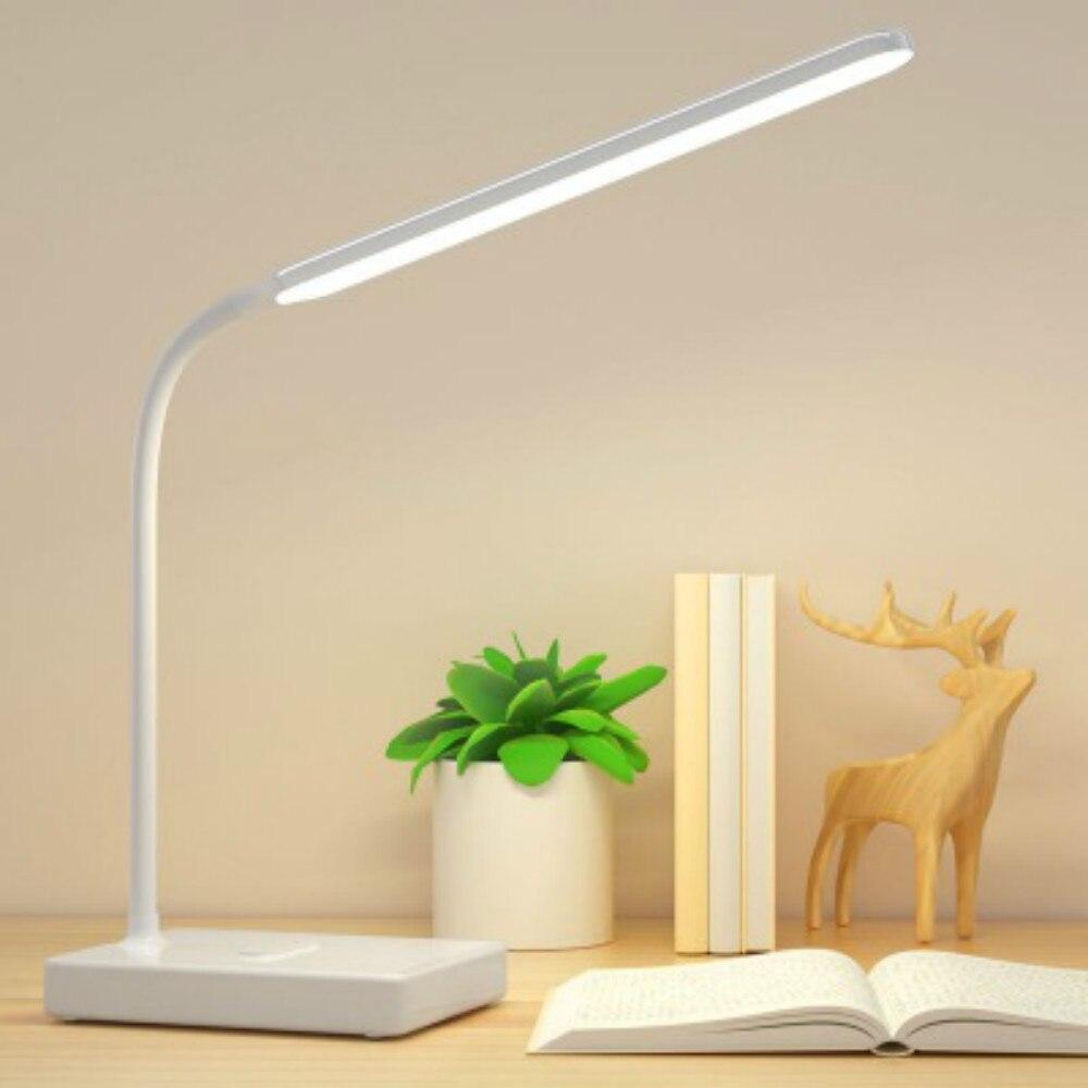 Офисная лампа USB Перезаряжаемый светодиодный складной настольный светильник защита глаз сенсорная Настольная лампа с регулируемой яркостью светодиодный светильник 3 уровня цвета|Настольные лампы| | АлиЭкспресс