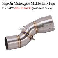 Tubo de escape para motocicleta  conexão média de tubo de escape modificado para bmw r1200gs adv 2013 - 2019 anos escapamento de moto