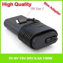 Alimentation électrique 130W, usb-c Type c, 20v, chargeur pour ordinateur portable, pour Dell XPS 15, XPS, 15, 9570, 9575, DA130PM170, HA130PM170