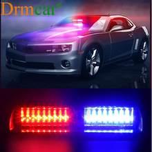 Lumière stroboscopique de voiture 16 LED RGB 7 couleurs, Signal de voiture, lumière d'avertissement d'urgence pour pare-brise de Police pour S2 Style Viper