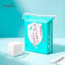 Kinepin removedor de limpeza de unha, almofadas de algodão macio para cuidados com a pele, limpeza de esmalte, 2 superfícies texturizadas diferentemente, 200 peças
