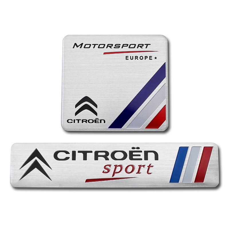 1Pcs Car Aluminum Motorsport Emblem Stickers Badge Car Body Decal For Citroen C4 C5 C3 C2 C1 C4L Picasso Saxo Auto Accessories
