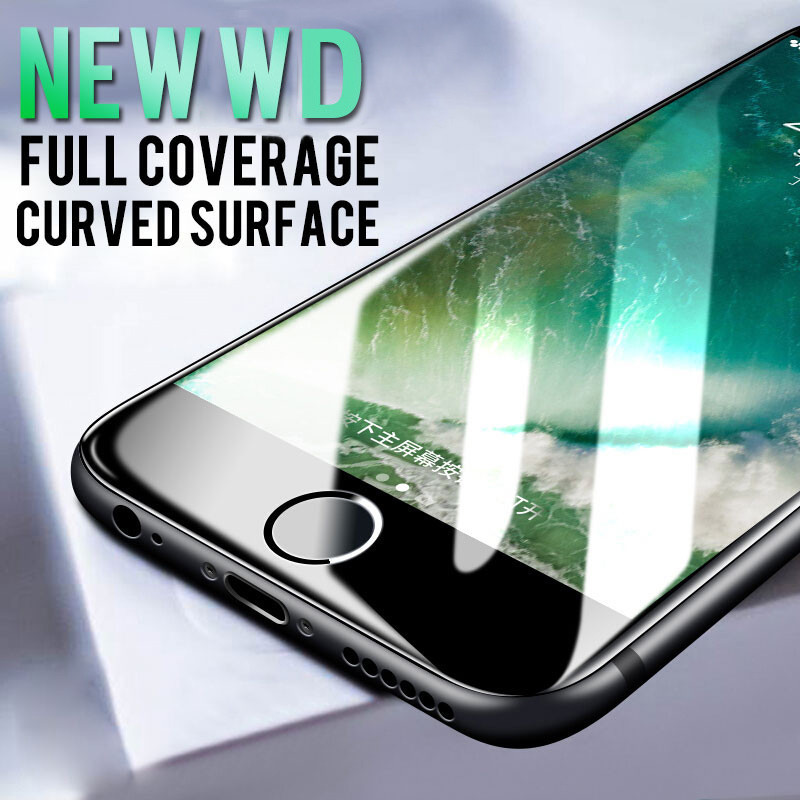 Image 5 - Protective glass on For iPhone 11 7 6 6S 8 5S Plus Full Cover for iPhone 11 X XR MAX Screen protector Glass on iPhone 11 Pro MAX-in Phone Screen Protectors from Cellphones & Telecommunications