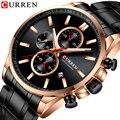 CURREN новые мужские часы с тремя циферблатами  модные деловые часы от кутюр  водонепроницаемые кварцевые мужские часы