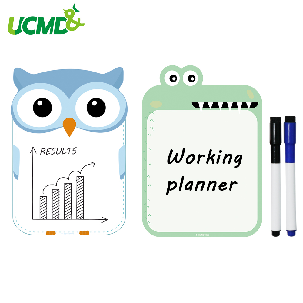 2pcs A5 Size Magnetic Fridge Sticker School Writing Drawing WhiteBoard Wall Stickers For Kids Home Office Dry Erase WhiteBoards