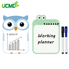 Купить с кэшбэком 2pcs A5 Size Magnetic Fridge Sticker School Writing Drawing WhiteBoard Wall Stickers for Kids Home Office Dry Erase WhiteBoards