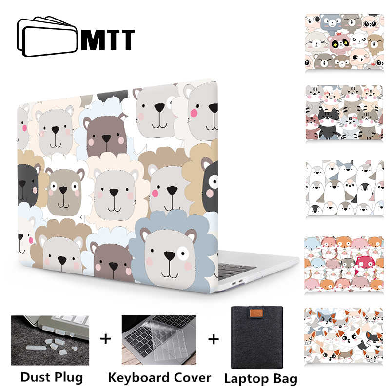 MTT Nette Cartoon Laptop Fall Für Macbook Air 11 13 Pro 16 13 15 Retina Touch Bar Kunststoff Hard Cover für Mac buch 12 13.3 ''Funda