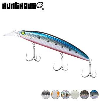 HUNTHOUSE flaoting minnow señuelo de fundición larga 130mm 19g wobblers señuelos duros carnada falsa artificial para pesca bass trout lw411