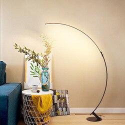 Nordic moderno arco lâmpada de pesca vertical lâmpada de assoalho candeeiro de mesa design criativo alto lâmpada para sala estar quarto casa arte decoração