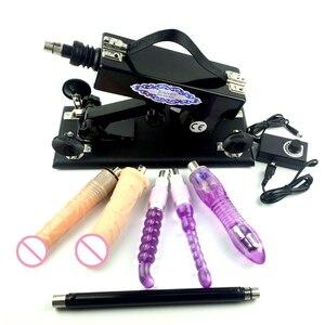 Image 2 - ENHOT sex machine dla kobiet z wieloma darmowymi dildo toy dowolne kraje adapter i ładowarka automatyczny chowany pistolet do pompowania A5 002