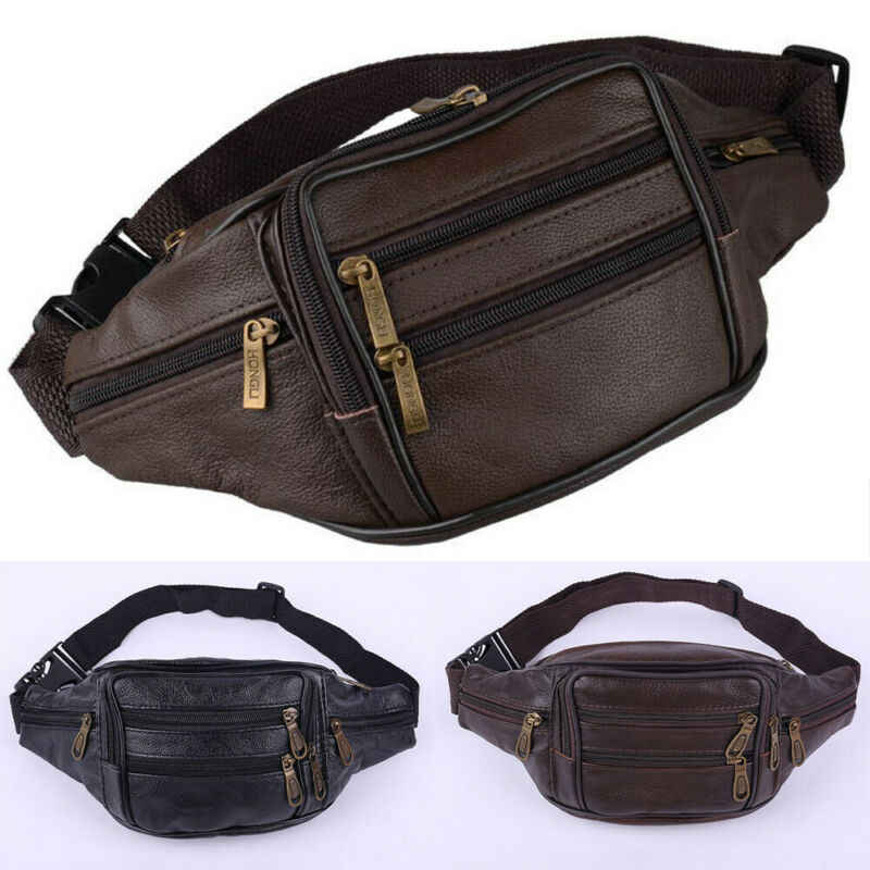 Bolso Vintage de cuero para hombre, bolso de la cintura para teléfono móvil, cinturón, riñonera, monedero, Simple, Casual, de negocios, de viaje, cadera bolso