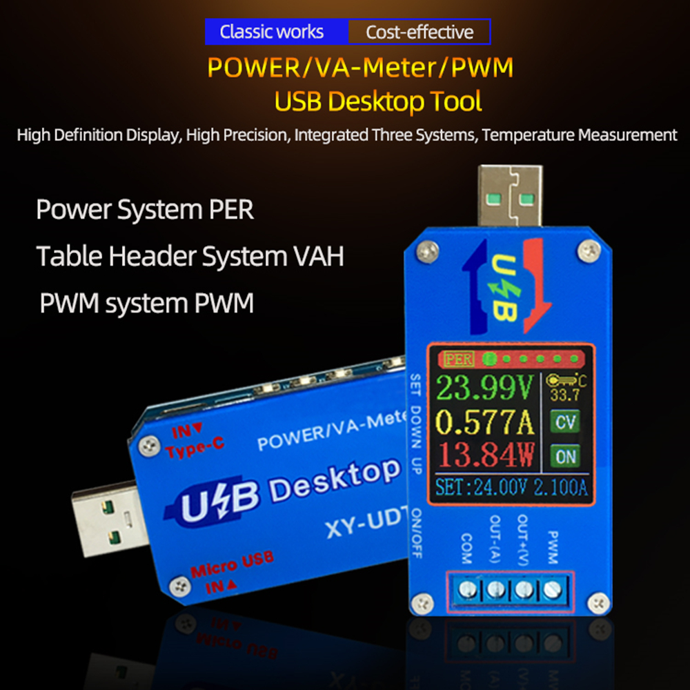 DC DC Boost/Buck Converter CC CV Power Module 5V TO 0.6-30V 2A Adjustable Regulated power supply Voltage Current capacity Meter