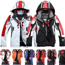 Ski-Jacket Skiing Waterproof Winter Warm Men Hooded for Hiking Camping Parkas Outdoor