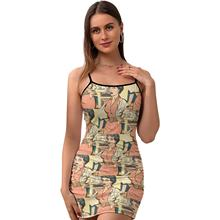 Comics Dress Tight Spandex Female Bodycon Party Curvy Classic Printed One-Piece