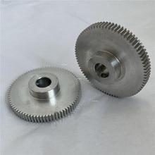 1 шт. 0,6 M 80T 5/6/8/10/12 мм отверстие M4 алюминиевая шестерня
