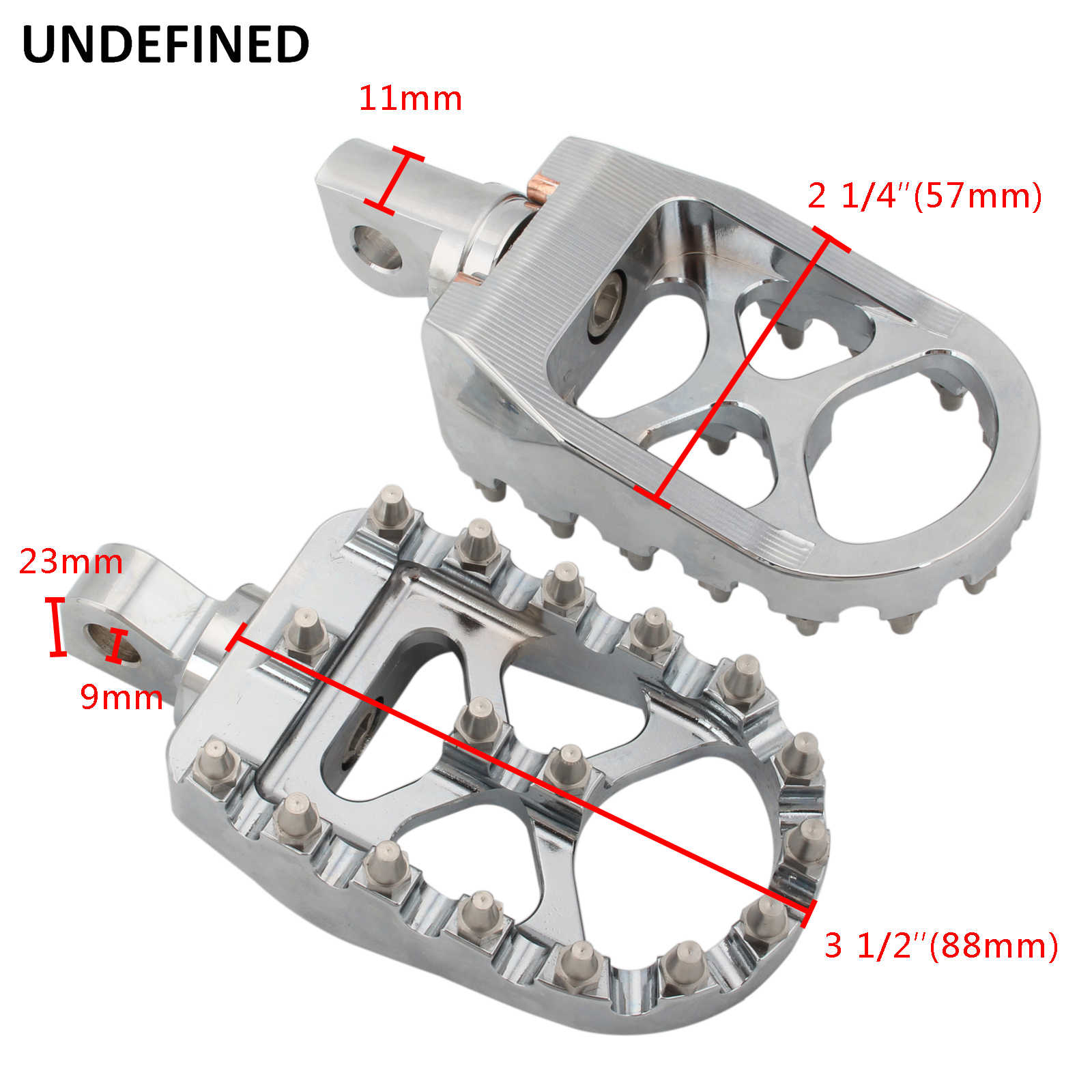 360/° Roating Foot Pedals Footpegs Rests Suit for Harley Davidson Dyna Sportster Bobber Chrome Goldfire Offroad Wide Motorcycle Fat Foot Pegs Pedals