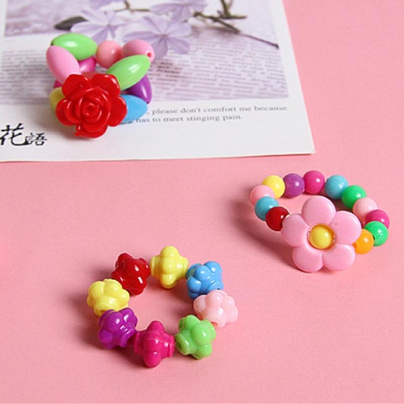 DIY Handmade Beaded Creative Girl Weaving Necklac Bracelet Jewelry Making Beautiful Square Round Beads Children Educational Toys
