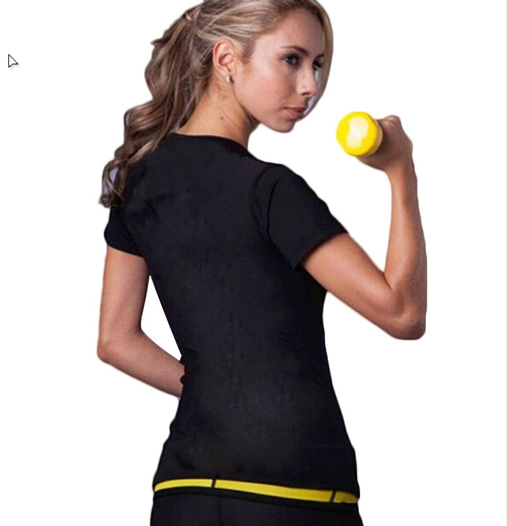 Hot Shapers Sports Healthy Beauty Yoga Suit Self Heating WOMEN'S Short Sleeved Yoga Sports Fitness Suit Women's