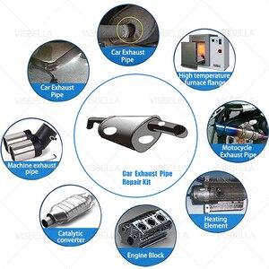 Image 5 - VISBELLA معجون إصلاح أنبوب عادم السيارة والدراجات النارية ، 75 جرام ، حشو عادم السيارة ، إصلاح السدادات ، غراء ، درجة حرارة عالية