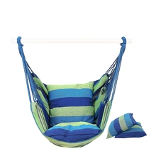 Hammock Chair Hanging Chair Swing Chair Seat With 2 Pillows For Indoor,Outdoor,Garden