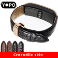 Luxury alligator leather strap 16mm 18mm genuine leather watchband for HUAWEI B3 B5 waterproof bottom bracelet quick release