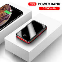 10000mAh mi ni Power Bank Tragbare Lade Für iPhone 8 x Xiao mi mi batterie externe mi rror Bildschirm LED Digital Disply Poverbank
