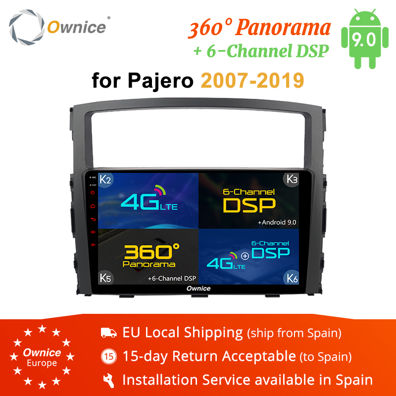 Ownice K3 K5 K6 2DIN Octa Core Android 9.0 4G DSP 360 panoramique autoradio lecteur GPS Navi pour MITSUBISHI PAJERO V97 2007-2019