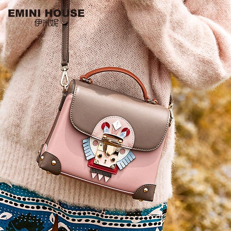 Women Bags Indian-Style Messenger-Bag Crossbody-Bags Emini-House Designer Split for Shoulder
