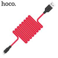 HOCO-Cable USB de silicona de carga rápida para iphone, cargador resistente al fuego, buena sensación de mano, para Apple iphone 11 Pro X XS Max 8 7 6 Plus iPad