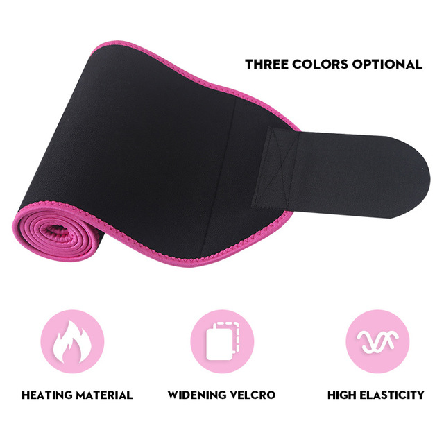 HEHE Custom Logo Slim Waist Sweat Sauna Belt Women Neoprene Abdominal Slimming Belt For Weight Loss Waist Supporter 1
