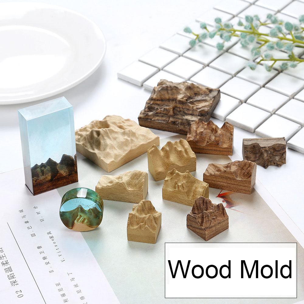 Landscape Wood Mold Mountain And Valley Mold For Epoxy Resin Art Enchanted Forest Jewelry DIY Jewelry Making Supplies