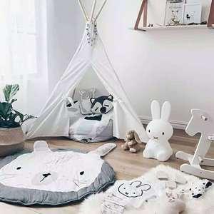 Image 5 - イン漫画ベビープレイマットパッド幼児子供クロール毛布ラウンドカーペット敷物おもちゃ子供ルームの装飾写真小道具