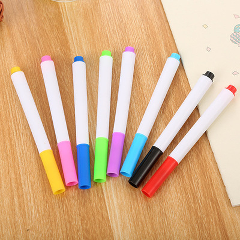 8pcs Watercolor Pen Novelty Student Writing Pen Art Supplies For Kids Cute Stationery Set Stationery Pastel Pens School Supplies
