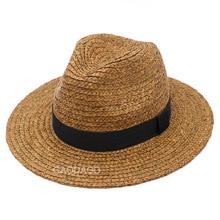 Large Size Panama Hat Big Bone Men Women Beach Wide Brim Fedora Cap High Quality Plus Size Raffia Straw Hats 57cm 59cm 61cm 63cm