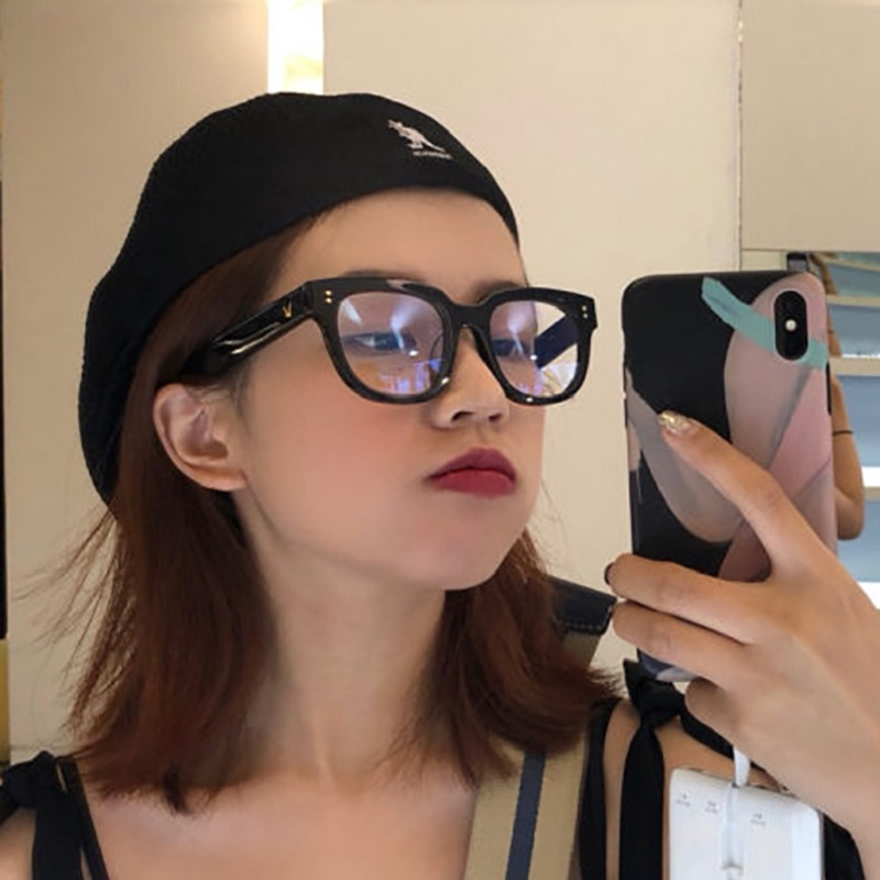 Men Women Clear Lens Anti-blue Light Glasses Oversized Anti-fatigue Computer Radiation Protection Spectacles Decorative