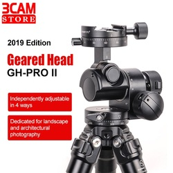SunwayFoto GH-PRO II Gear Head Panoramic Head for DSLR Camera Panorama Head Arca Swiss Tripod with one Free Quick Release Plate