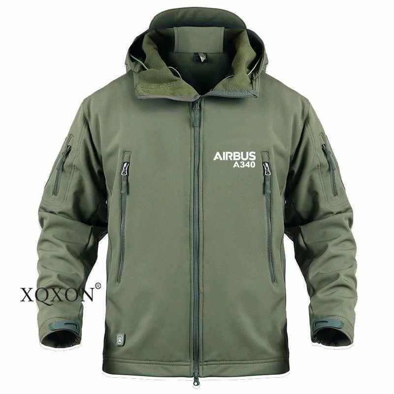 Xqxon-piloto jaquetas airbus a340 impressão jaqueta homem blusão esqui caminhadas casaco masculino e feminino jaqueta softshell impermeável ao ar livre ka719