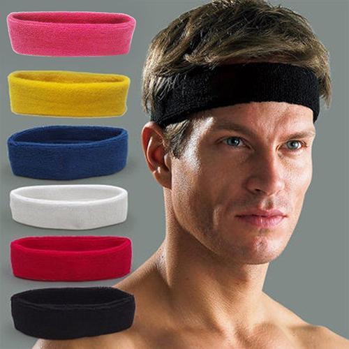 1pc Women/Men Headband Sports Yoga Fitness Stretch Sweat Sweatband Hair Band Elasticity Headband Headwear Sports Safety