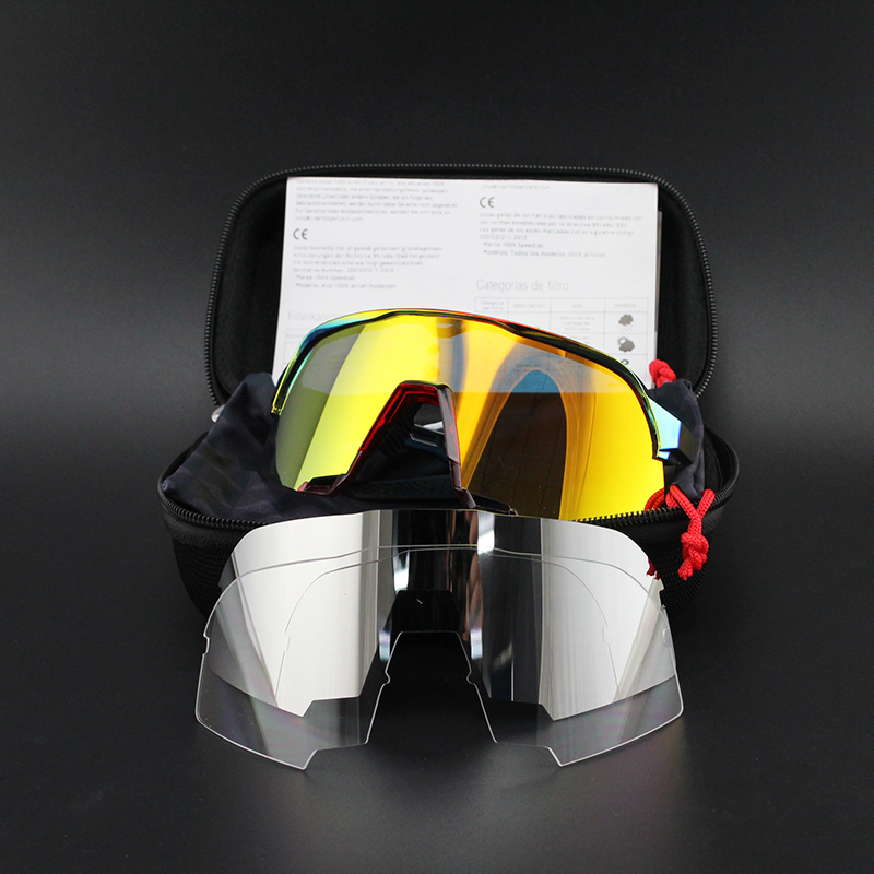100 S2 S3 3 Lens Polarized Outdoor Sports Bike Bicycle Sunglasses Gafas MTB Cycling Glasses Eyewear Peter Goggles Man