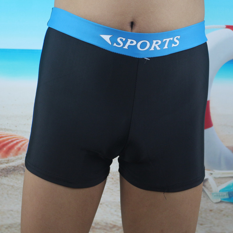 Men High-waisted Boxer Beach Shorts Shorts Loose-Fit MEN'S Swimming Trunks Chinlon Sweat-wicking Swimming Trunks
