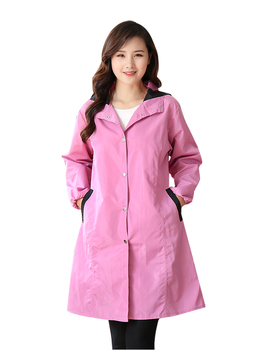 цена Fashion plus long style overalls adults and women wear kitchen household long sleeve aprons waterproof and oil-proof overalls онлайн в 2017 году