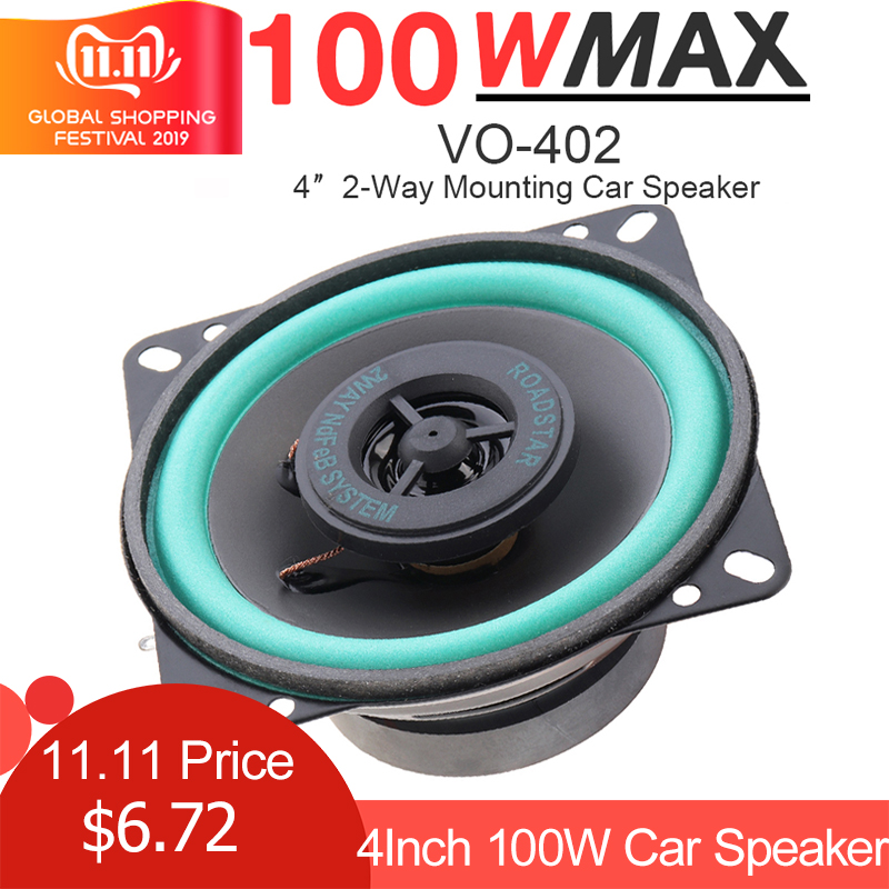 1pc 4 Inch 100W <font><b>Car</b></font> HiFi Coaxial <font><b>Speaker</b></font> Vehicle Door Auto <font><b>Audio</b></font> Music Stereo Full Range Frequency <font><b>Speakers</b></font> for <font><b>Car</b></font> Vehicle Auto image