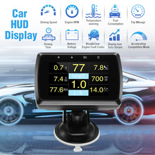 Car HUD Head Up Display A501C OBD2 OBDII On-board Computer W/Holder Speedometer Fuel Consumption Watertemperature Display new car hud head up display obd 2 ii on board auto car computer c600 digital speedometer obd2 projector driving fuel consumption