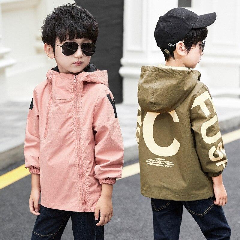 Пальто для маленьких мальчиков; Новинка 2019 года; ветровка; Водонепроницаемая повседневная детская одежда с капюшоном для мальчиков; детская спортивная верхняя одежда и пальто