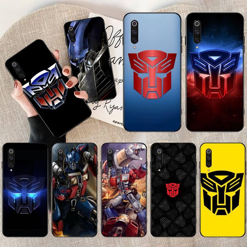 HPCHCJHM Hot Transformers Autobot Logo Custom Photo Soft Phone Case for Xiaomi Mi9 9SE 8SE Pocophone F1 Mi8 Lite
