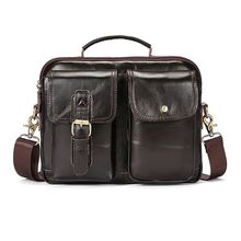 Vintage Men's Leather Casual Messenger Bag Laptop Tote Handbag Shoulder Bags Cross body Briefcase tuladuo retro handbag tote purse vintage shoulder bag full ball women cross body bags doctor bag letter scrub leather handbag
