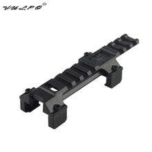 Vulpo hk mp5 g3 longo picatinny trilho base escopo de montagem para airsoft rifle escopo