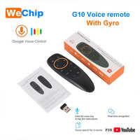 G10 2.4G voix Air souris 6 axes Gyroscope mouche souris IR fonction d'apprentissage télécommande travail avec Android Box TV contrôleur