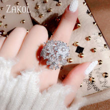 ZAKOL แฟชั่น Cubic Zircon Rose Gold สี(China)